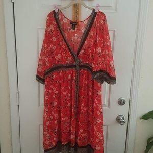 Lane Bryant Faux Wrap Printed Dress